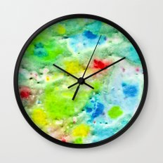 Fire In The Swamp Wall Clock
