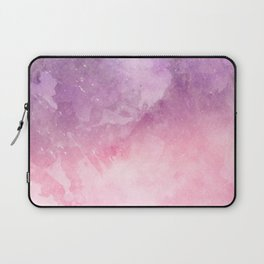 Pink Watercolor Texture Laptop Sleeve