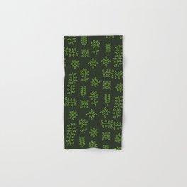 Green Floral Pattern Hand & Bath Towel