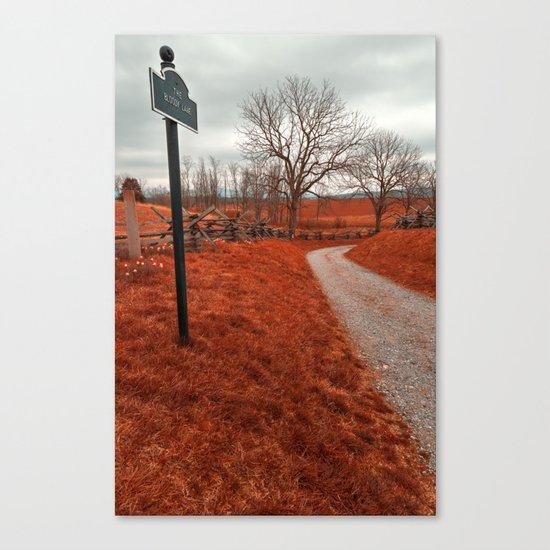 Bloody Red Lane Canvas Print