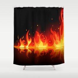 Feuer - Fire Shower Curtain