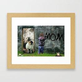 Mom by GEN Z Framed Art Print