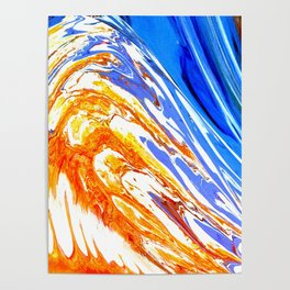 Riding the Wave of Orange Emotion; Fluid Abstract 53 Poster