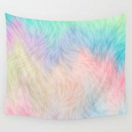 Rainbow Unicorn Fur Wall Tapestry