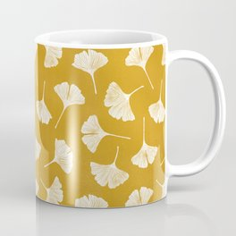 Ginkgo Biloba | Yellow Background Coffee Mug