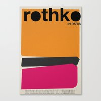 rothko Canvas Prints featuring rothko by RICCARDO CAPPELLUTI