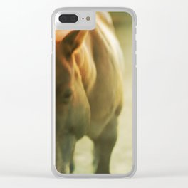 Gold Horse Clear iPhone Case