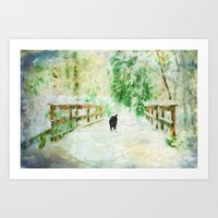 Daisy on the Bridge Art Print