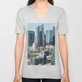LA Skyscrapers Unisex V-Neck