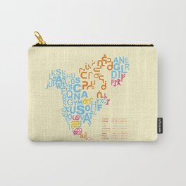 North America ~ Writing Sistems Carry-All Pouch