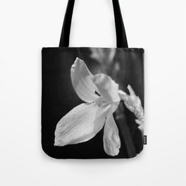 forsythia black and white Tote Bag