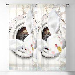 Times and Time rabbits Blackout Curtain