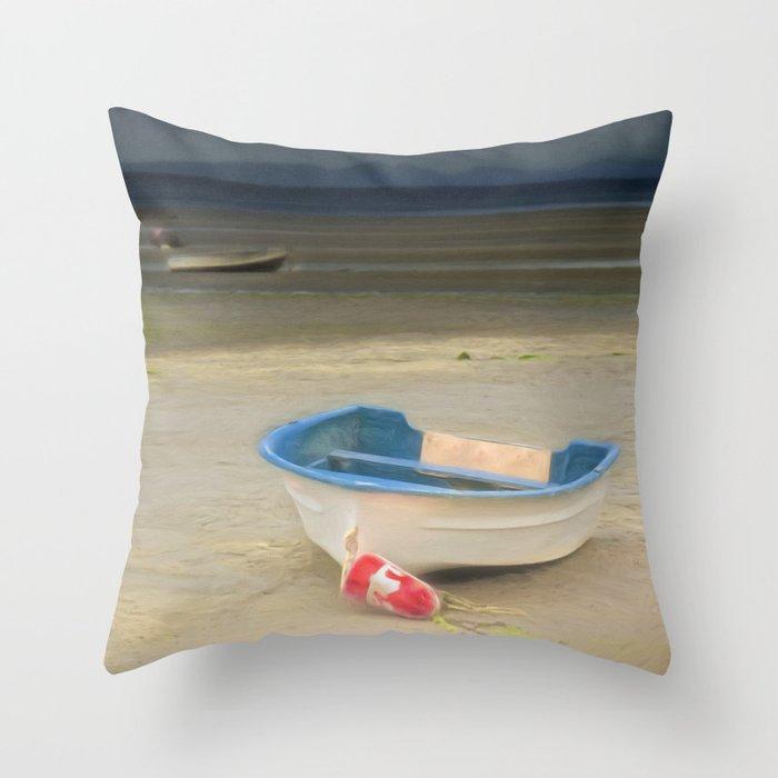 White Storm Throw Pillow