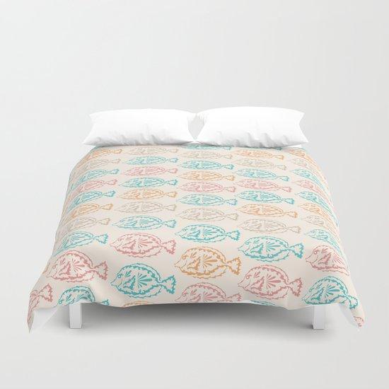 Pastel Marine Pattern 03 Duvet Cover