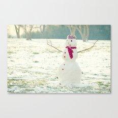 But Snowmen Can't Talk Canvas Print
