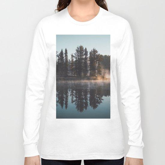 Foggy lake  #society6 Long Sleeve T-shirt