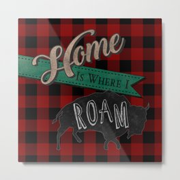 Buffalo Roam Metal Print