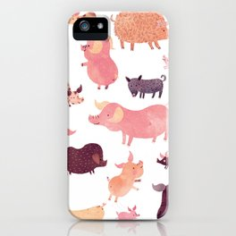Pig Pig Pig iPhone Case