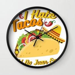 Tacos No Juan Ever Cinco De Mayo Party Wall Clock