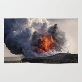 Kilauea Volcano at Kalapana 8 Rug