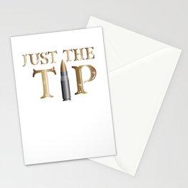 Just The Tip Gun Bullet Patriotic Veteran & Patriot Stationery Cards