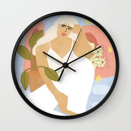 Soft Pink Shoes Wall Clock