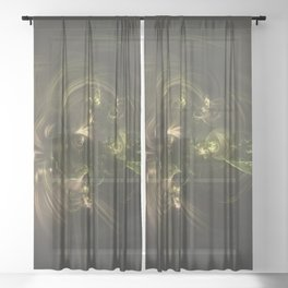 Geometric Cosmic Light 131 Sheer Curtain