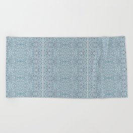 Serene In Blue Beach Towel