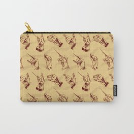 Conductor (pattern in brown and ochre) Carry-All Pouch