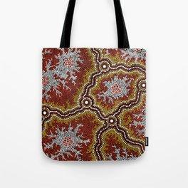 Aboriginal Art Authentic - Mountains Tote Bag