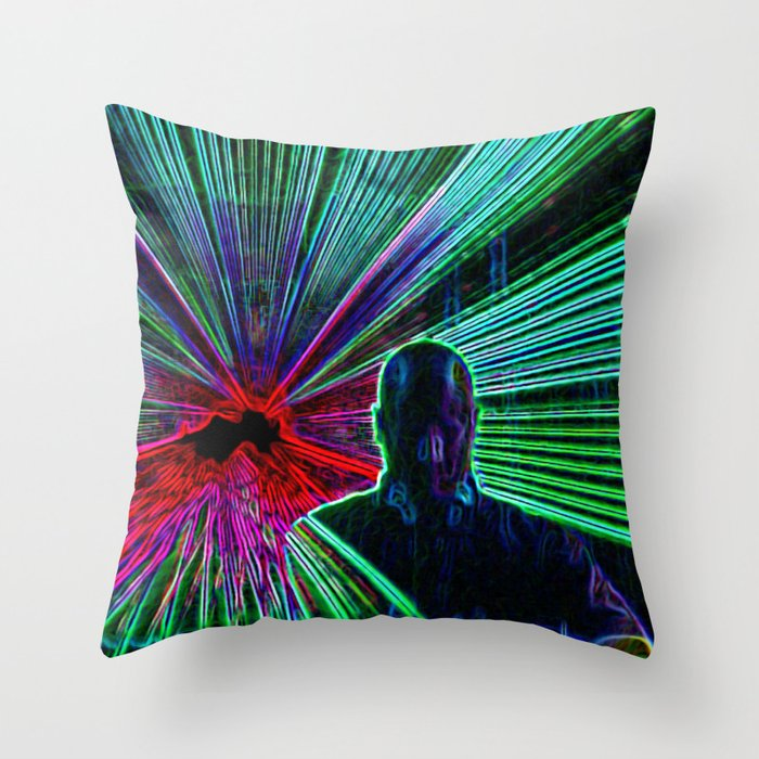 DJ On The Decks Throw Pillow