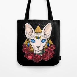 Egyptian Sphynx Cat Pharaoh Tote Bag