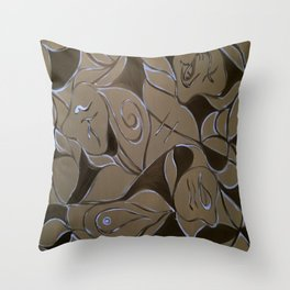 Cave Of Faces Throw Pillow