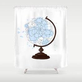 Floral Globus #2 Shower Curtain