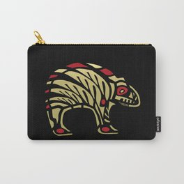 Tribal Black and Gold Bear Symbol Carry-All Pouch