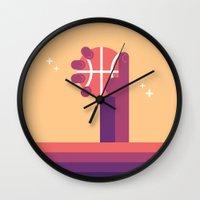 nba Wall Clocks featuring NBA Hand 1 by Loris F. Alessandria