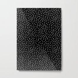 WHITE DOTS Metal Print