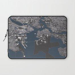 Bosston - City Map II Laptop Sleeve