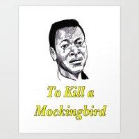 to kill a mockingbird Art Prints featuring To Kill a Mockingbird by AdrockHoward