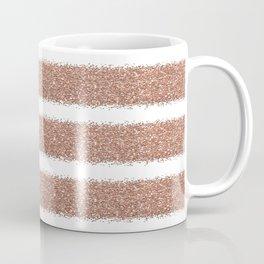 Rose gold glitter stripes Coffee Mug