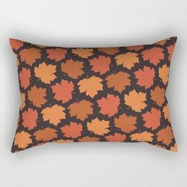 Falling maple leaves pattern Rectangular Pillow