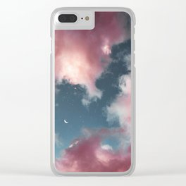 Cotton candy clouds. Clear iPhone Case