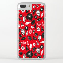 red mess Clear iPhone Case