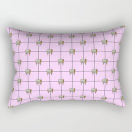 TV SETS ON PINK Rectangular Pillow