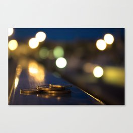 Lost Coins on the Harbour Canvas Print