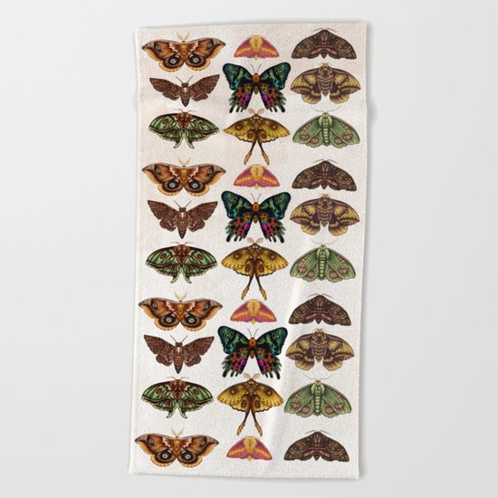 Moth Wings III Beach Towel