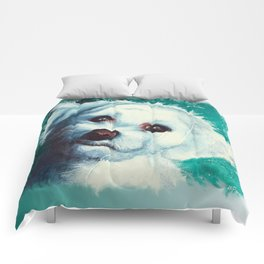 Maltese dog - Pelusa - by LiliFlore Comforters