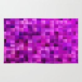 Purple rectangle pattern Rug