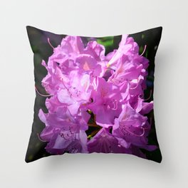Pink Rhododendron by Teresa Thompson Throw Pillow