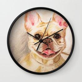 "Pastel Drawing ""Happy Camper"" Wall Clock"